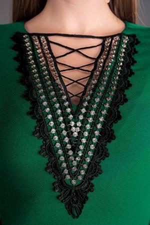 Rochie midi de zi cu accesorii Leila, verde2