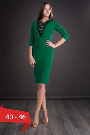 Rochie midi de zi cu accesorii Leila, verde0