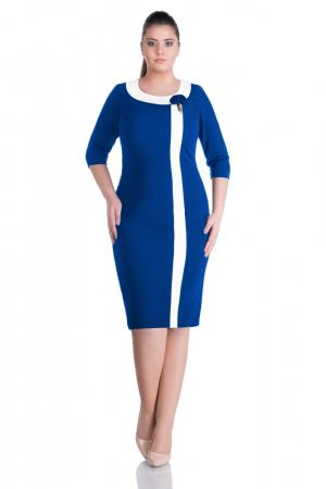 Rochii elegante XXL - Rochie de zi marimi mari Natasa, albastru [0]