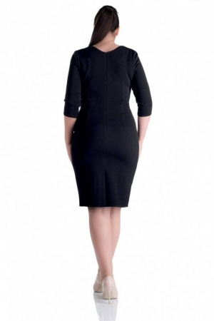 Rochie de zi casual cu dungi Gabriela, negru2