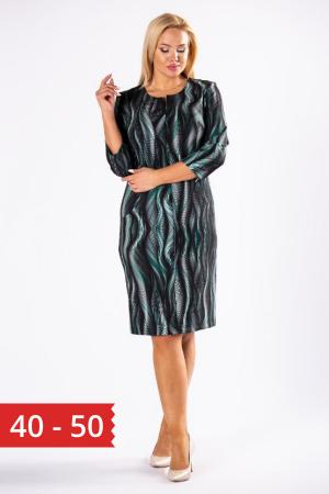 Rochie midi de zi cu imprimeu Brenda0