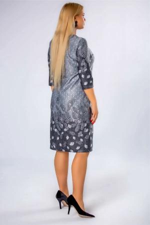 Rochie midi din tricot marimi mari gri2