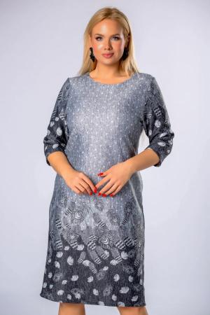 Rochie midi din tricot marimi mari gri1