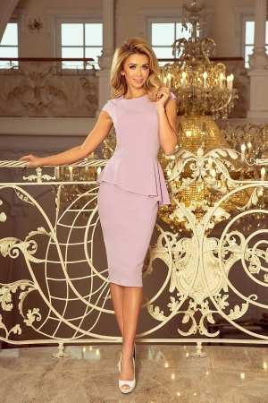 Rochie midi eleganta cu peplum Numoco, lila0