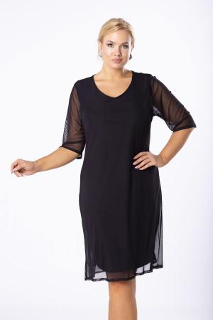 Rochie midi eleganta din voal negru Luiza3
