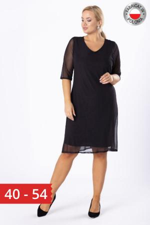 Rochie midi eleganta din voal negru Luiza0