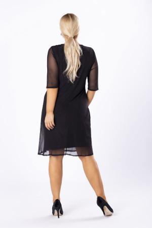 Rochie midi eleganta din voal negru Luiza2