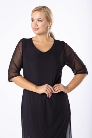 Rochie midi eleganta din voal negru Luiza1