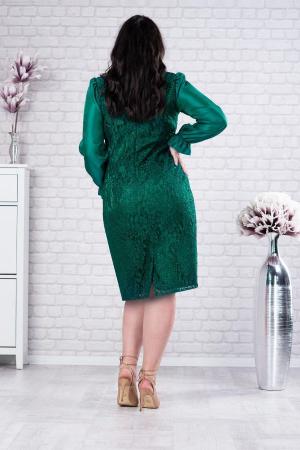Rochie midi de ocazie din dantela verde Deborah2