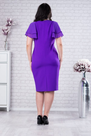 Rochie midi eleganta pentru femei plinute Selina violet1