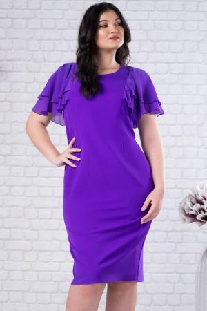 Rochie midi eleganta pentru femei plinute Selina violet3