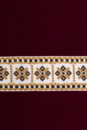 Rochie motive traditionale Eliana, marsala2