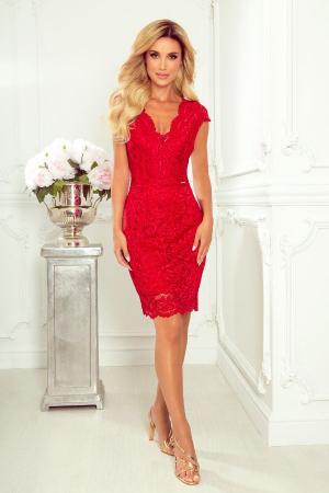 Rochie rosie de seara din dantela0