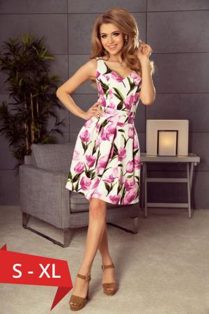 Rochie eleganta scurta cu imprimeu floral Marianne0