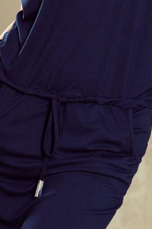 Rochie sport cu buzunare Sorina albastru3