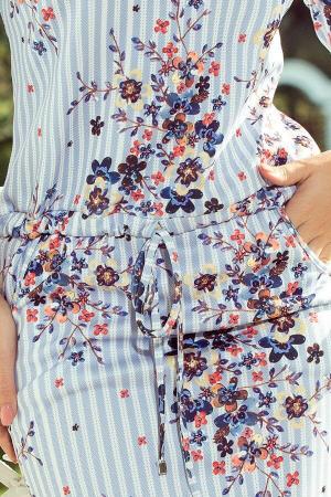 Rochie sport cu buzunare Simonne alb floral3