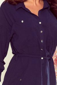 Rochie tip camasa lunga Brooke albastru3