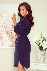 Rochie tip camasa lunga Brooke albastru1