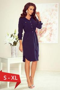 Rochie camasa lunga Brooke albastru