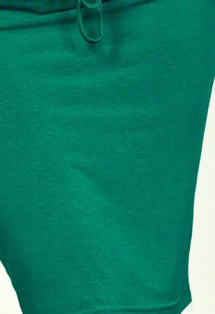 Rochie verde smarald cu buzunare si maneca scurta2