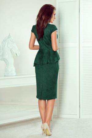Rochie eleganta verde smarald Numoco - Rochii cu peplum [1]