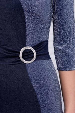 Rochie albastra eleganta de ocazie Henrieta3