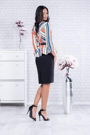 Rochie eleganta de zi Candy, negru/multicolor2