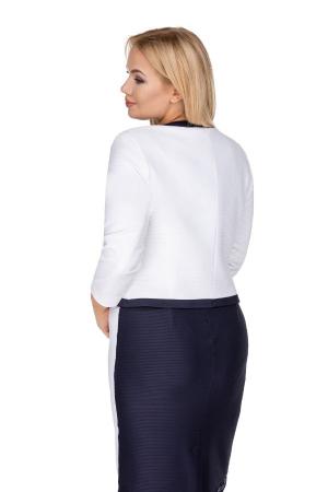Sacou scurt elegant de dama alb/negru1