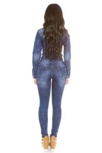 Salopeta de blugi dama bleumarin3