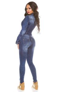 Salopeta de blugi dama bleumarin2