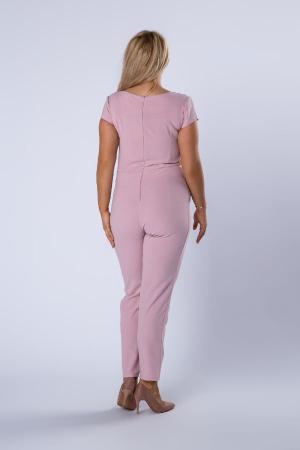 Salopeta eleganta dama, pantaloni conici, roz [2]