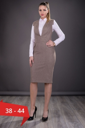 Sarafan dama office Tina, bej0