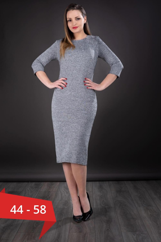 calitate superioară murdărie ieftine magazin de vânzare Rochii de toamna - Rochie din tricot marimi mari 44-58 Darla, gri