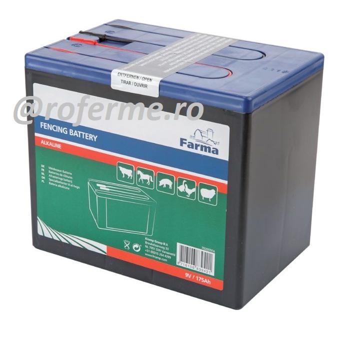 Baterie alcalina 9 V pentru aparate gard electric, 55 Ah 0