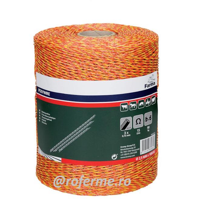 Fir pentru gard electric - 2,5 mm, 40 kg, 500 m [0]