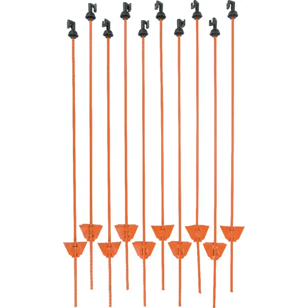 Stalpi pentru gard electric, otel, 105 cm 1