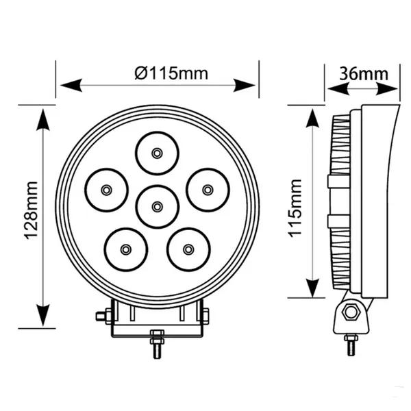 Proiector auto LED, 27 W, 10 / 30 V [4]