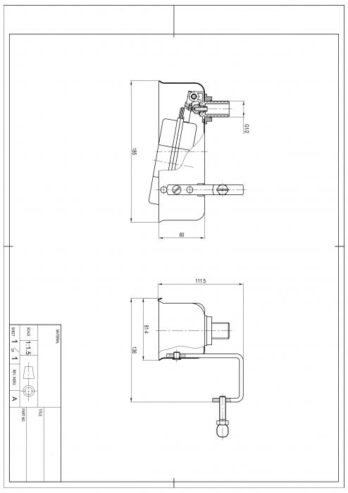 Robinet plutitor pentru adapatori, inox [3]