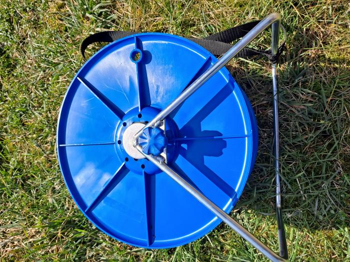 Tambur Super pentru fir gard electric, cu suport 2