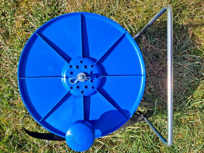 Tambur Super pentru fir gard electric, cu suport 1
