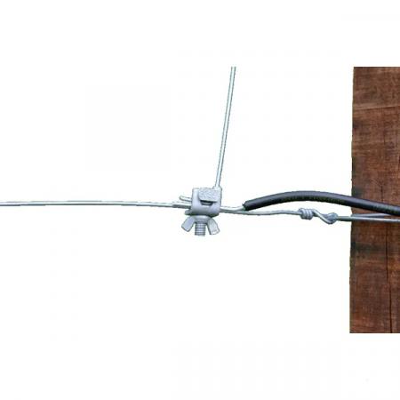 Clema metalica pentru conductori gard electric3