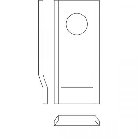 Cutit pentru cositori rotative, profil L [2]