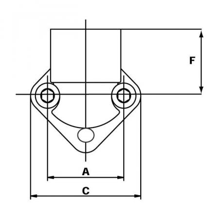 Flansa pompa hidraulica 1/2, conectare SAE2