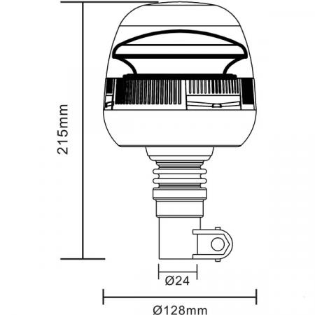Girofar LED 24 W, 10-30 V, montaj pe stalp [2]