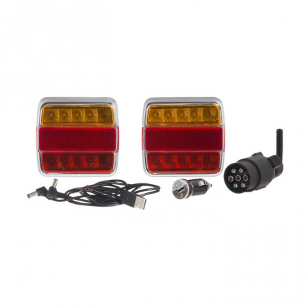 Instalatie electrica auto 12 V, LED, wireless - set0