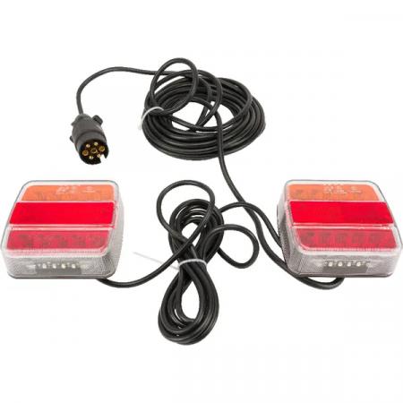 Instalatie electrica auto, LED, cu magnet, 12 V, 7,5 m [0]