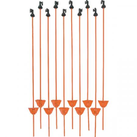 Stalpi pentru gard electric, otel, 105 cm1