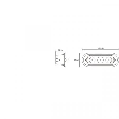 Lampa / Stroboscop semalizare gabarit 9 W, LED3