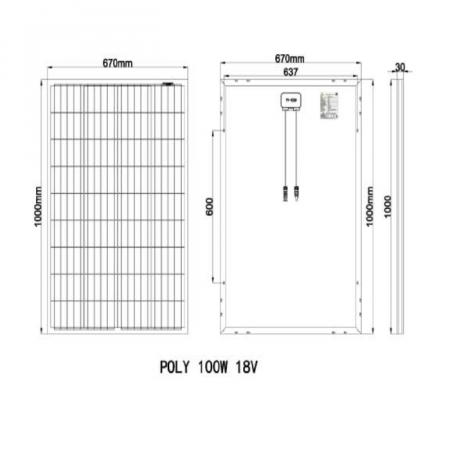 Panou fotovoltaic 100 W [1]