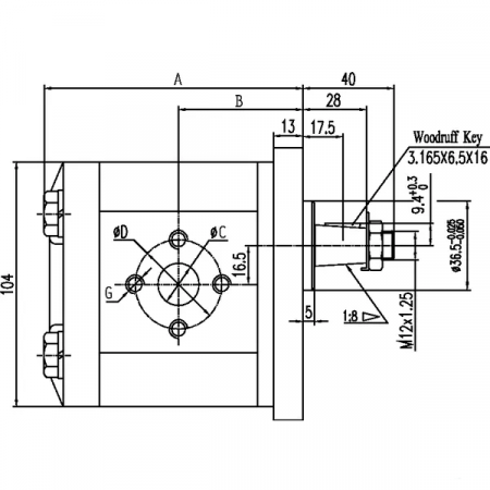 Pompa hidraulica rotativa, presiune 230 bar [1]